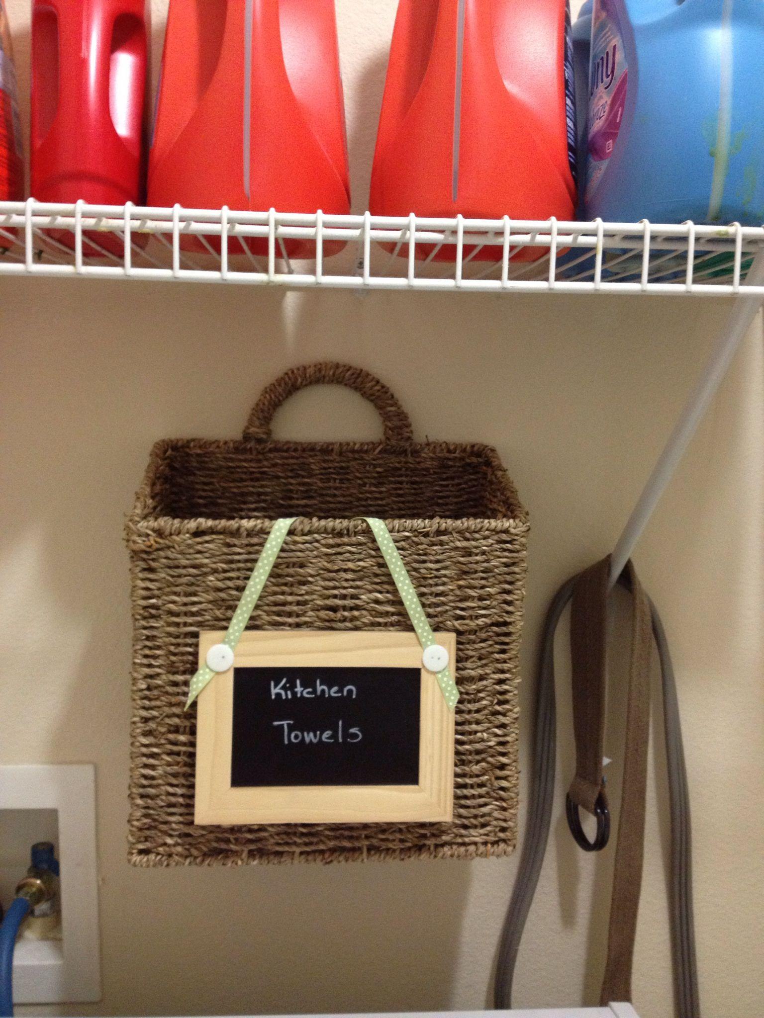 DIY : Dirty Kitchen Towel Basket | Craft. | Pinterest | Towels ...