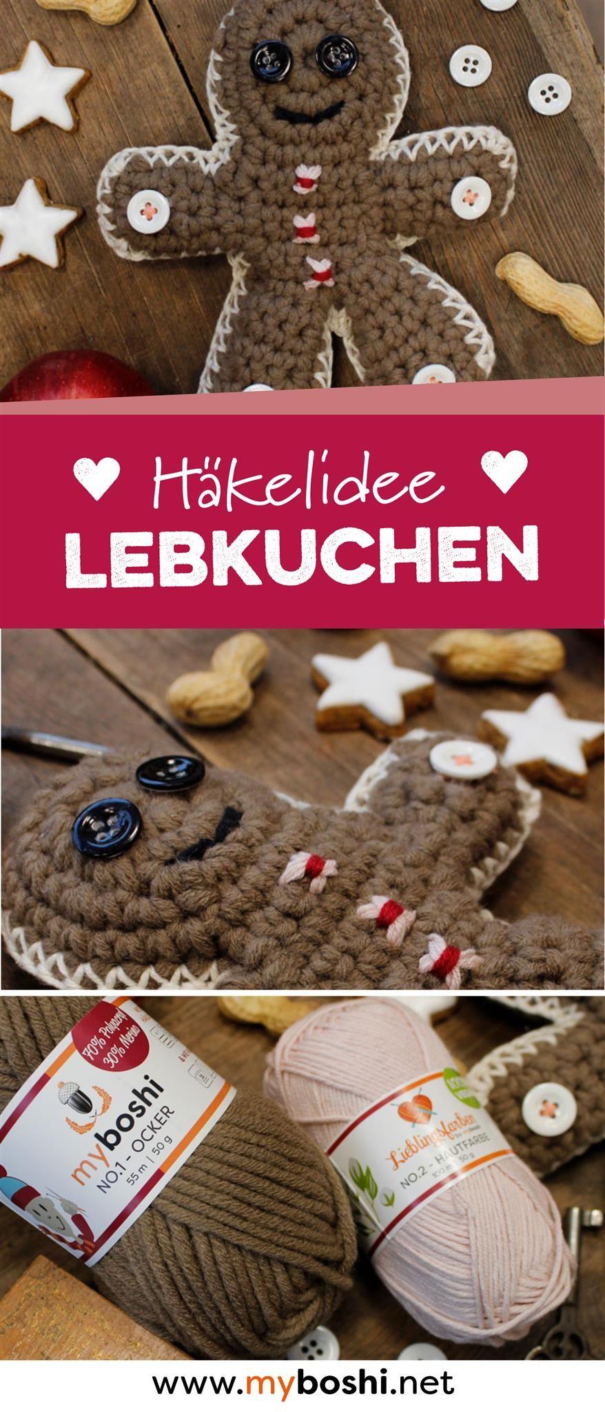 Lebkuchenmann häkeln inkl. gratis Postkarte zum Ausdrucken ...