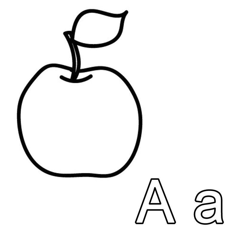 Welches Wort Beginnt Mit Dem Buchstaben A Der Apfel Spielerisch Lernt Ihr Kind Beim Ausmalen Den Ersten Buchstab Buchstaben Lernen Alphabet Bilder Buchstaben