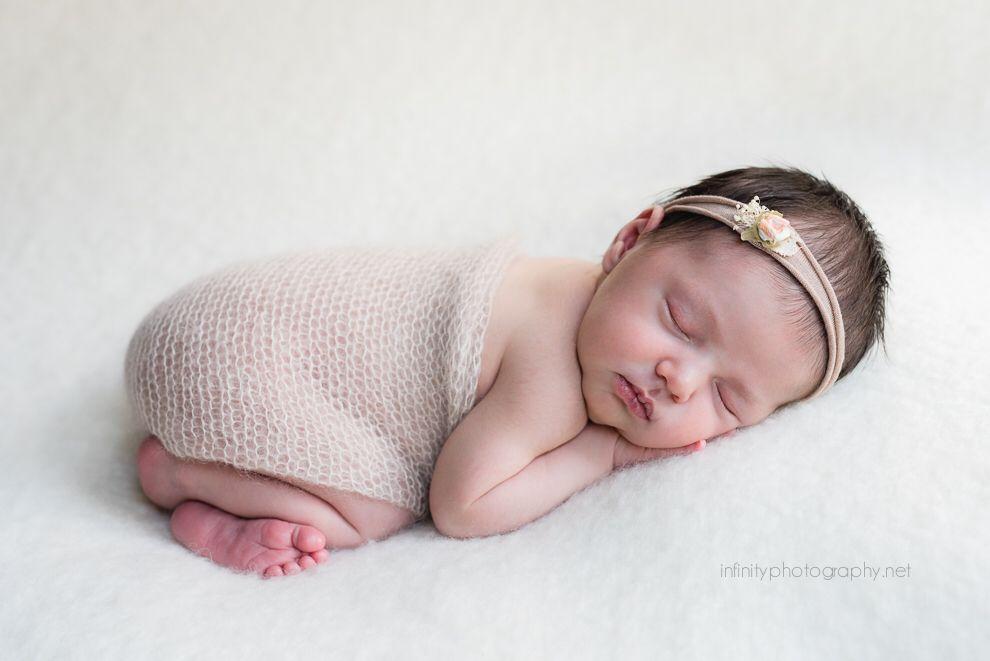 Newborn baby girl infinity photography red deer newborn photographer
