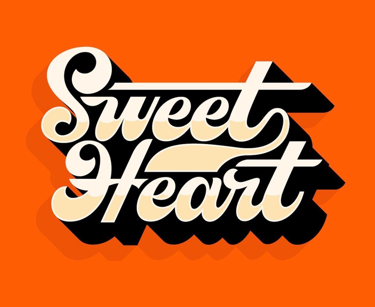 Lettering design hand lettering sign painting sweet hearts script letters fonts typography patterns