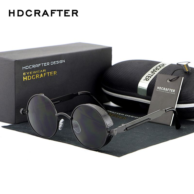 b6a1e5235f Polarized Sunglasses Designer Sunglasses With Box Metal Frame Vintage  Classical Luxury Car Driving Eye Accessories