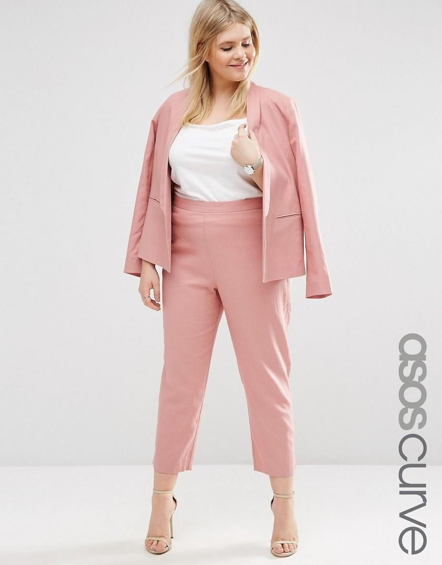 CURVE Cropped Trousers in Linen