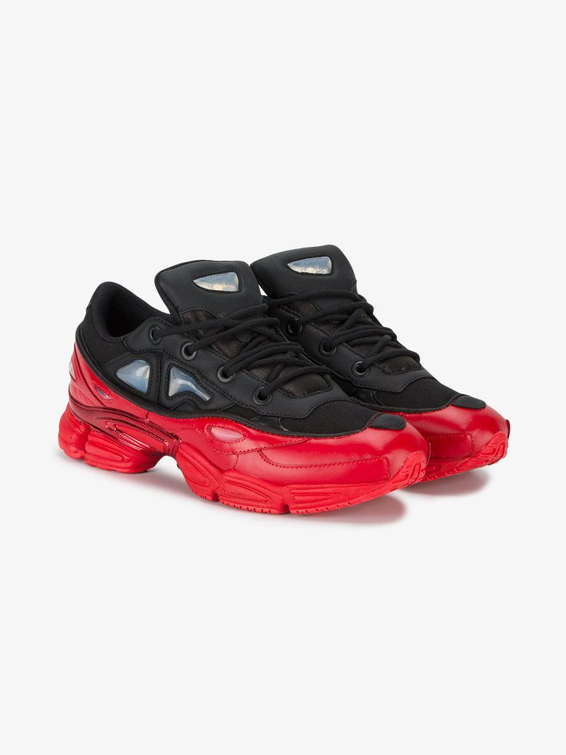ADIDAS BY RAF SIMONS ADIDAS BY RAF SIMONS BLACK RED OZWEEGO III TRAINERS.   adidasbyrafsimons  shoes  sneakers 8a359d0855f6