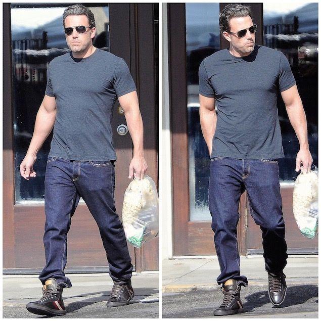 Ben Affleck Wears Bally Oldani Leather