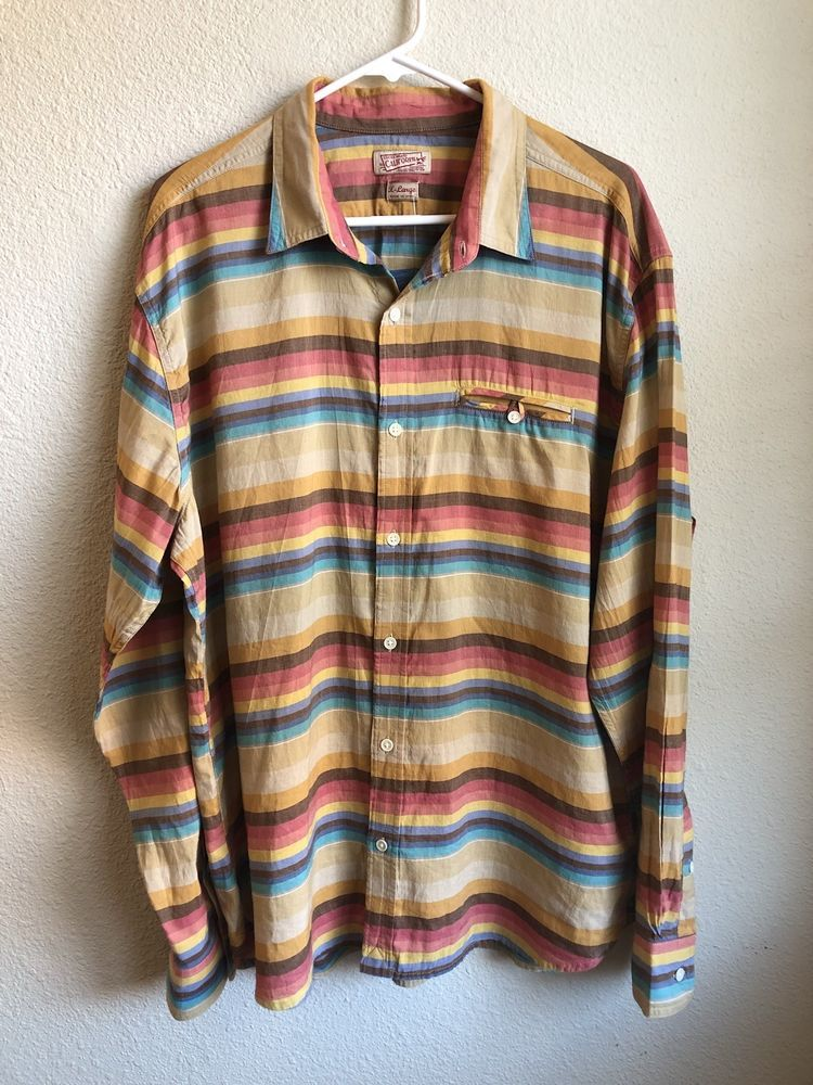 2d6637ed08f2c NEW Lucky Brand Men s Shirt XL - Multi-color Long Sleeve Button Down ...