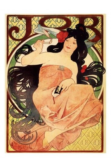 Job Cigarette Papers 2 Alphonse Mucha Print - Vintage Advertising Posters - Retro Posters iPosters £7.99
