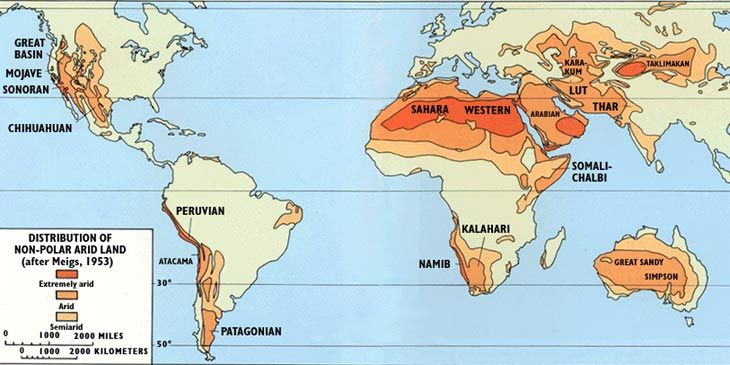 World map of deserts science project pinterest deserts world map of deserts gumiabroncs