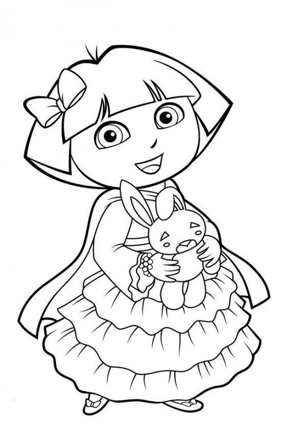 Free Printable Dora Christmas Coloring Pages Picture 54