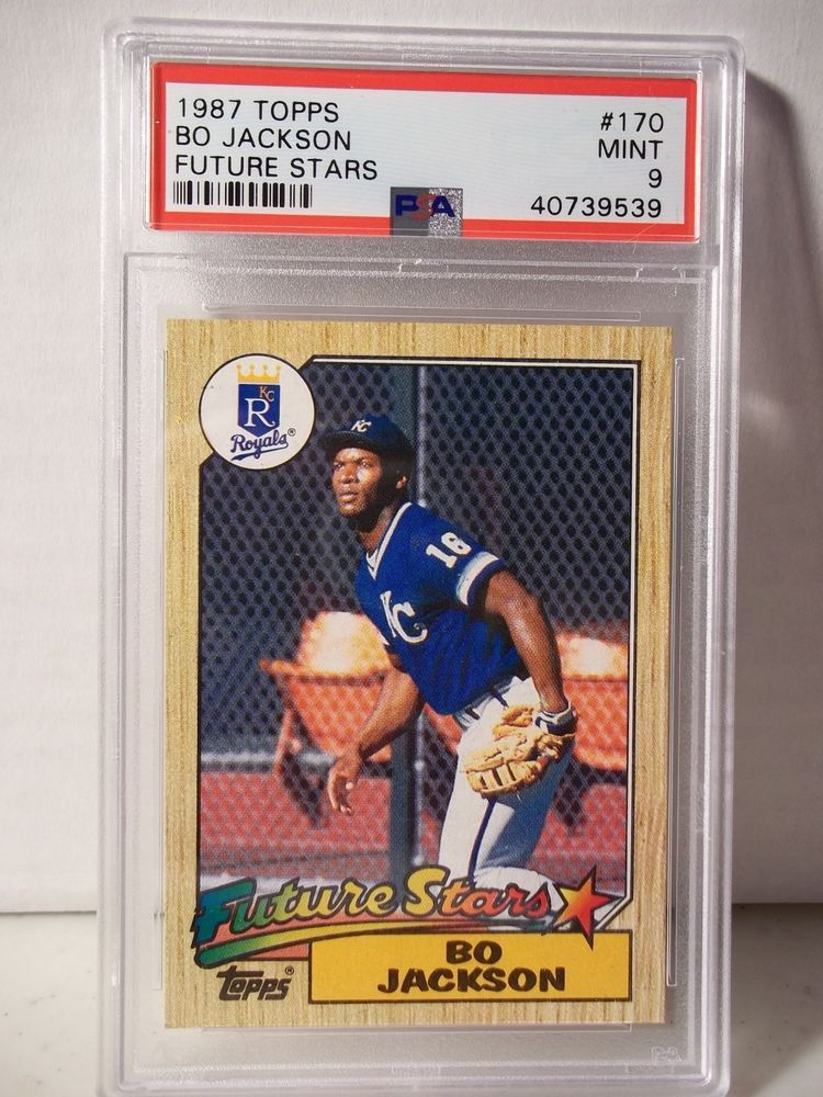 1987 Topps Bo Jackson Rookie PSA Mint 9 Baseball Card 170