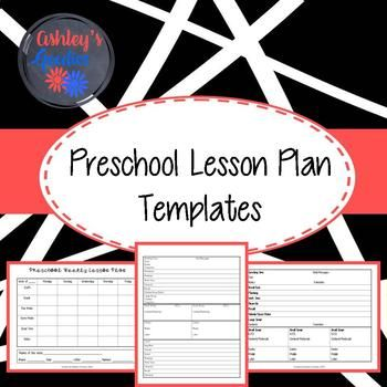 Preschool Lesson Plan Templates Lesson Plan Templates And Daycare