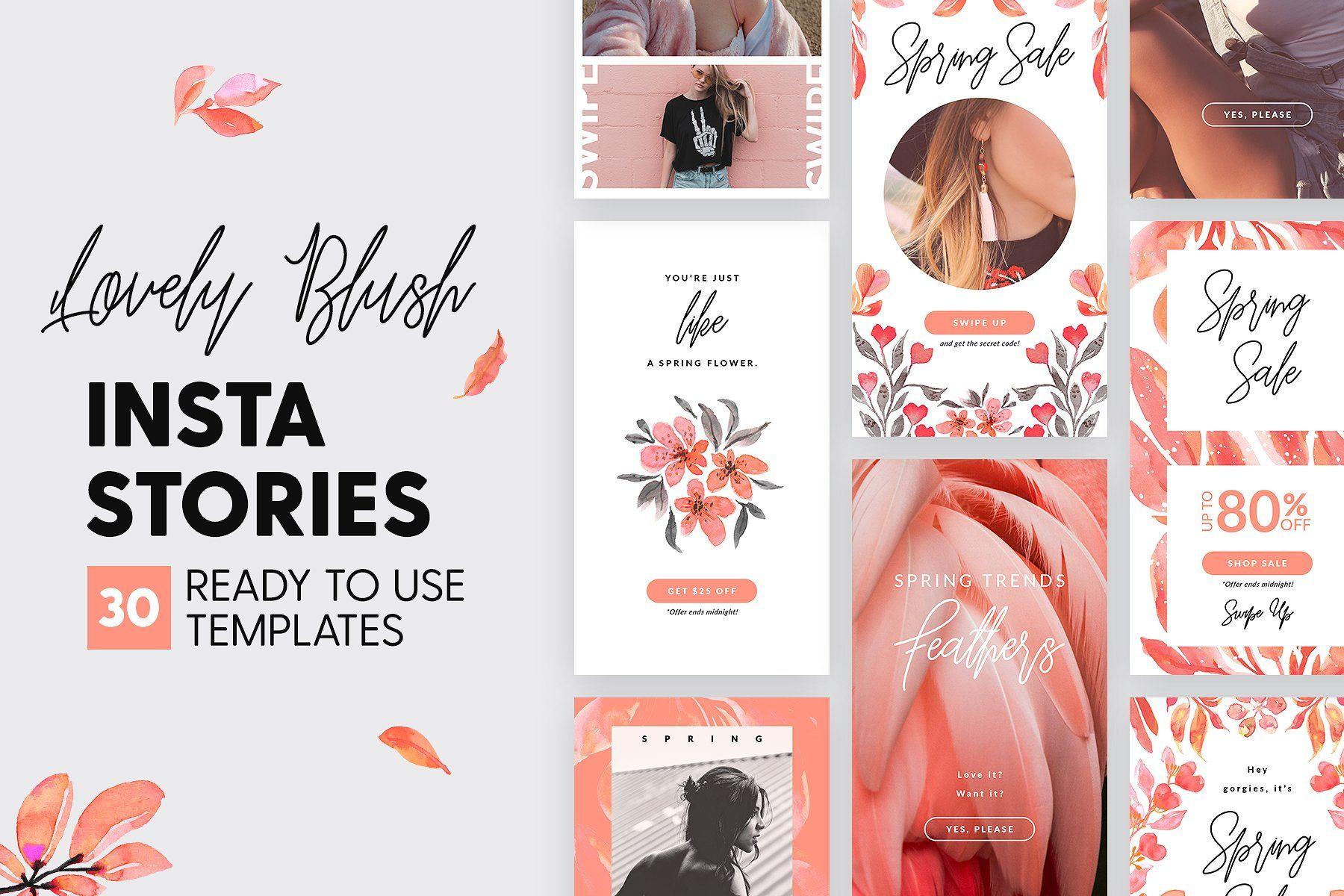 Instagram Stories - Lovely Blush Ed | Social Media