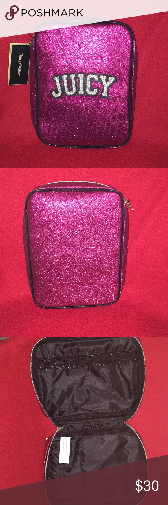 Juicy Couture Cosmetic Bag New With Mirror Hot