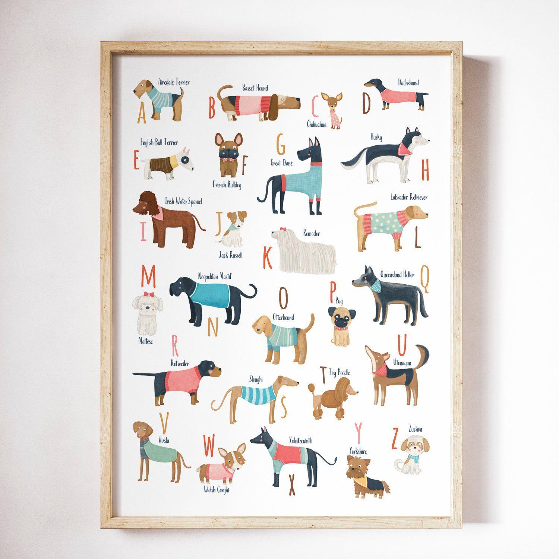 Alphabet Animals Poster ABC Canvas Wall Art Prints Educational ...