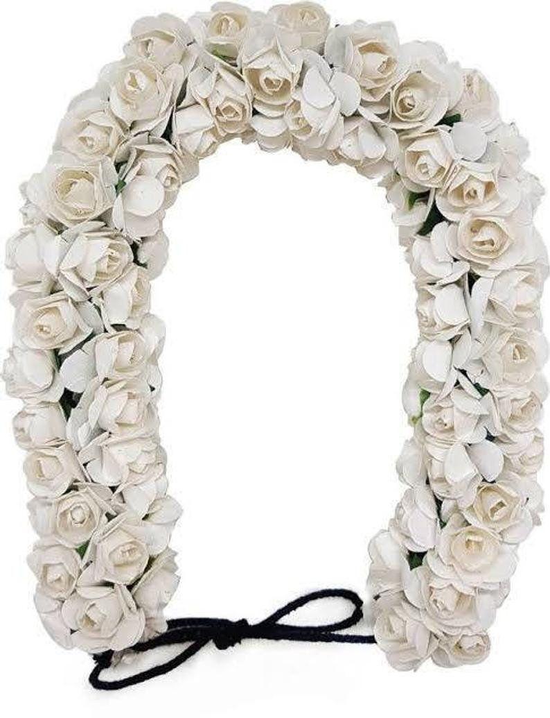 White /& Red Hair accessories Gajra Artificial Flower Jewelry Handmade Costume Veni Bun tiara For Women Wedding Wear Hair Accessorices