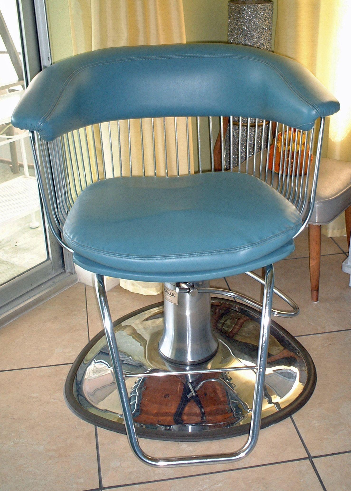 Mid century modern atomic beauty salon chair vintage salon barber shop sofa chair