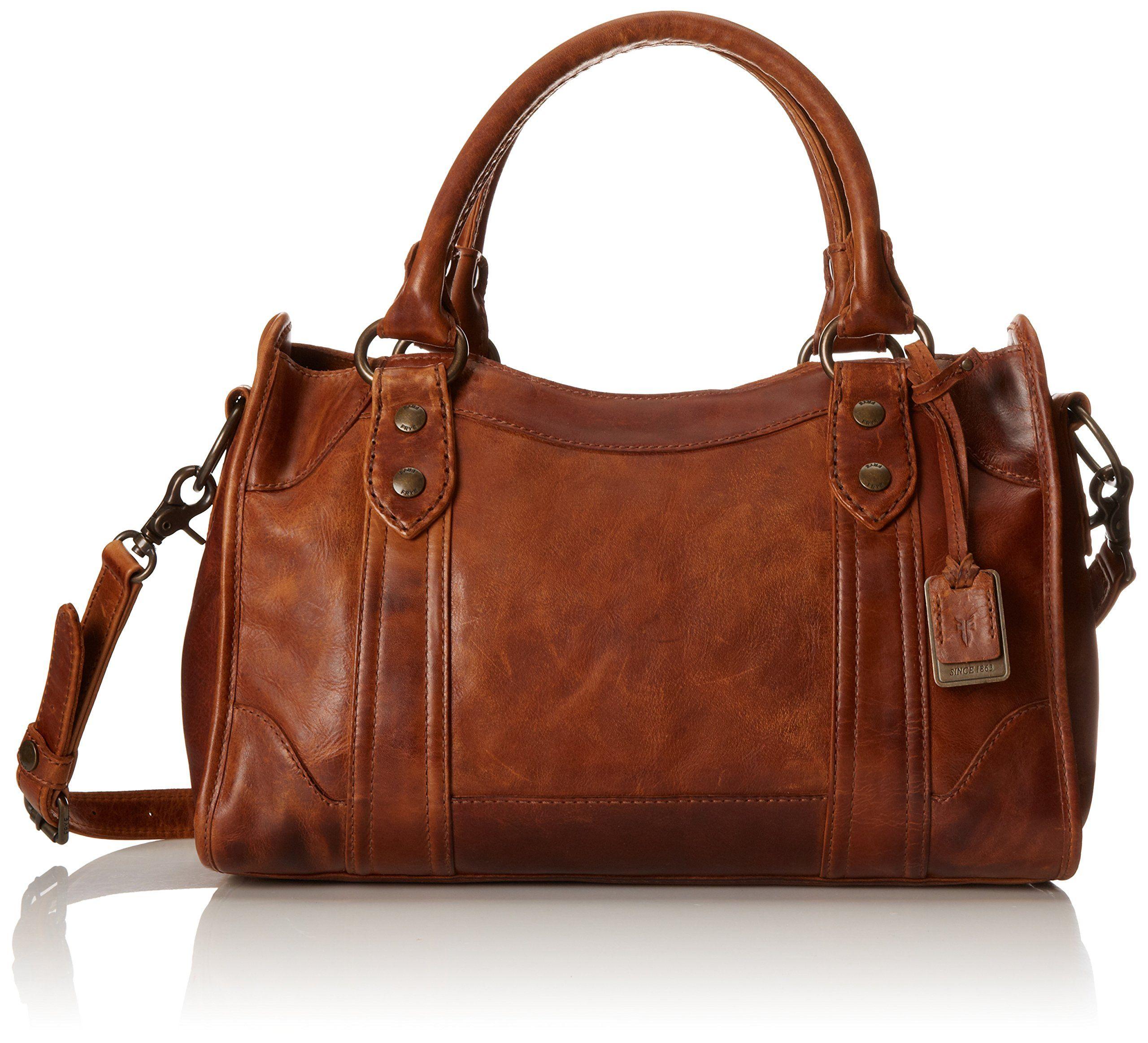 FRYE Melissa Satchel Handbag, Cognac, One Size: Handbags: Amazon ...