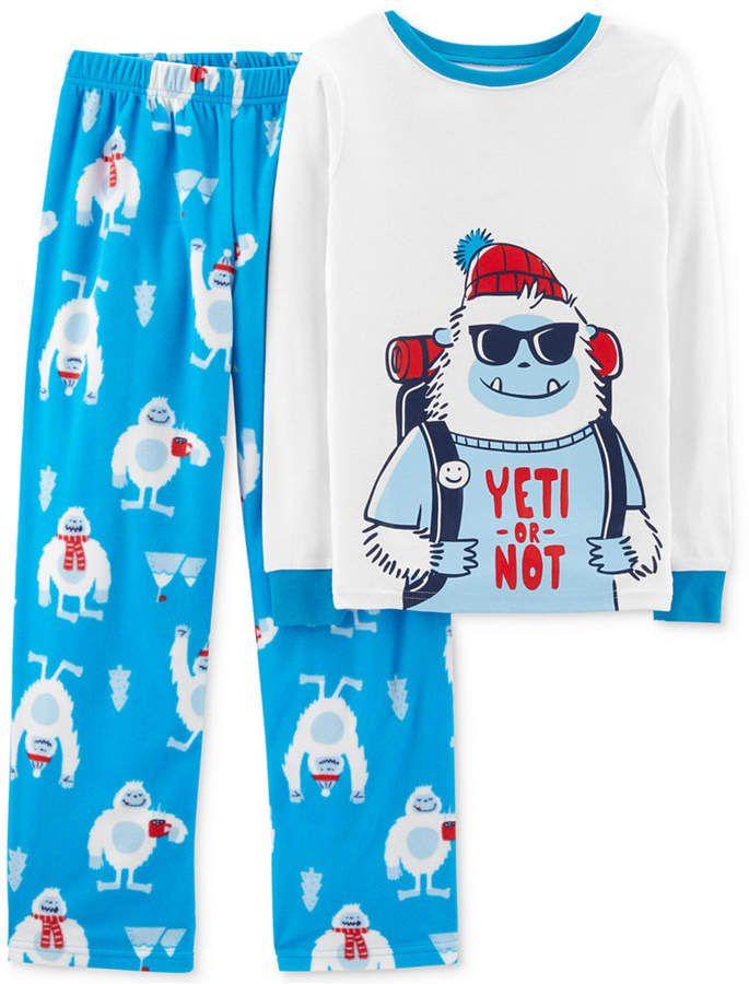 Carter s Little   Big Boys 2-Pc. Yeti Pajamas Set - Blue 4 in 2018 ... 236e1dc24