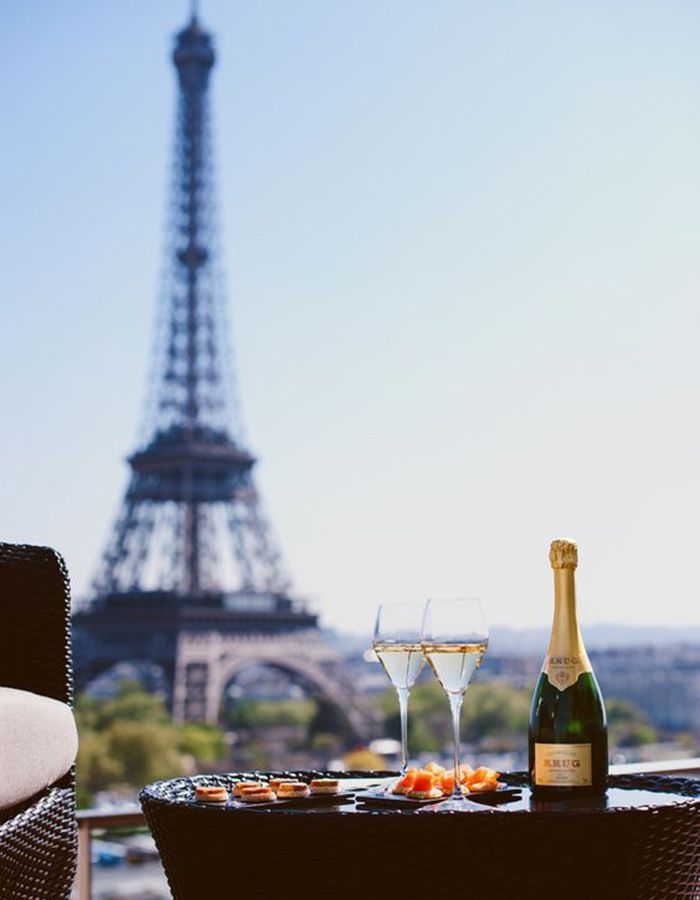 The Ultimate Travel Guide To Your Romantic Honeymoon In Paris: Check out the best view in Paris from Le Bar, Shangri-La Hotel during your honeymoon!