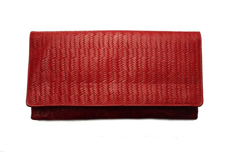 6c240f2a24f61 Kopertówka+skórzana+Jodełka+czerwona+duża+w+Etui-vintage+na+DaWanda.com