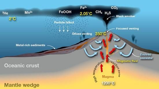 Hydrothermal Vent Diagram Geology And Fossils Pinterest Geology