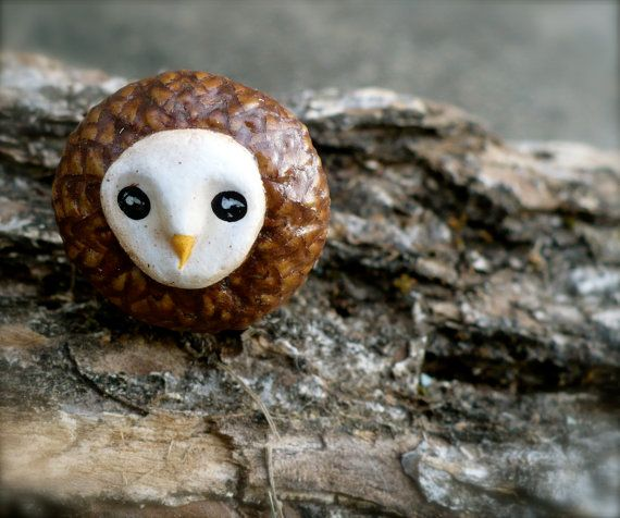 How adorable are these owl rings made out of acorns?! My Dad is recycling the earth and getting crafty... way to go pops!    Go to:   http://www.etsy.co/shop/TheCraftCellar
