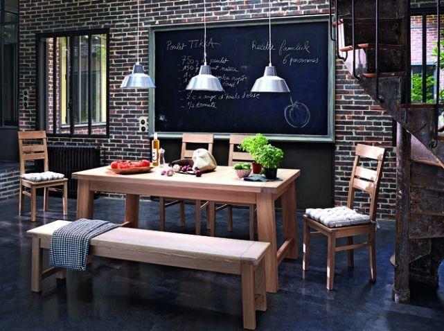 Id es d co salle manger toutes nos id es d co pour une belle salle manger elle - Deco salle a manger industrielle ...