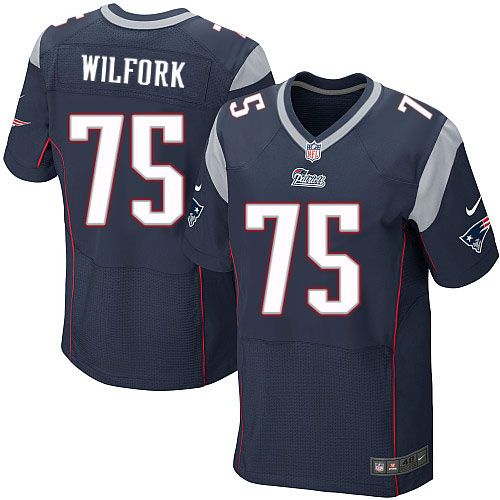 Mens Nike New England Patriots 75 Vince Wilfork Elite Navy Blue Team Color Nfl Jersey New England Patriots Jersey Patriots Nfl New England Patriots