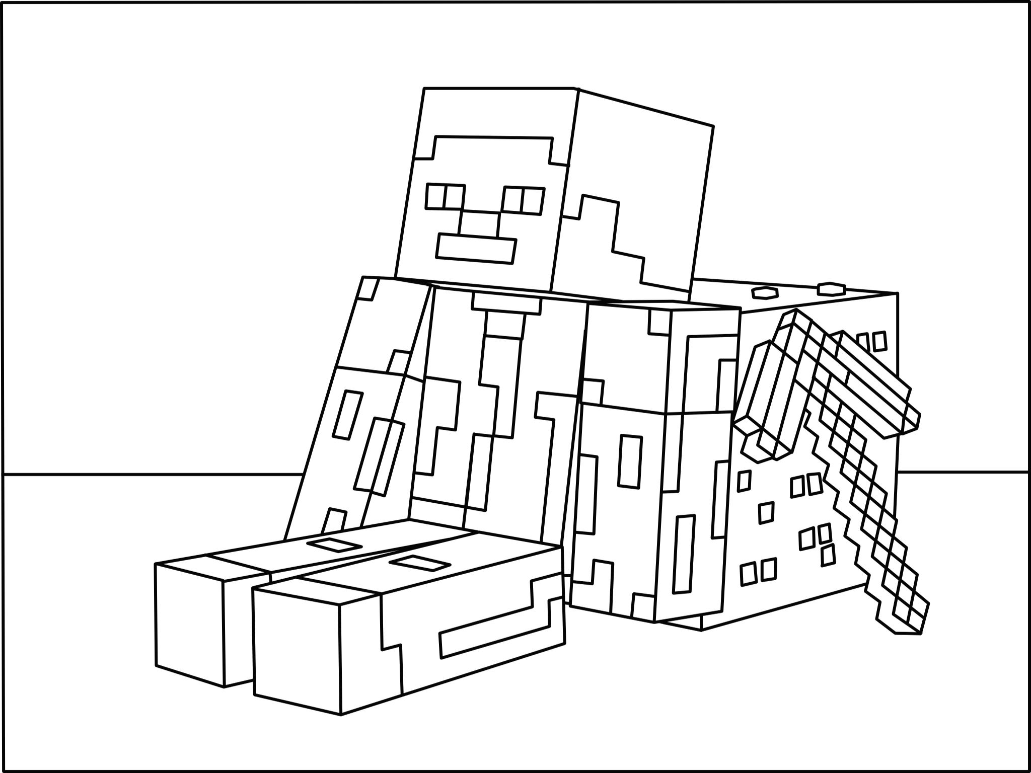 Minecraft Diamond coloring page(画像あり)