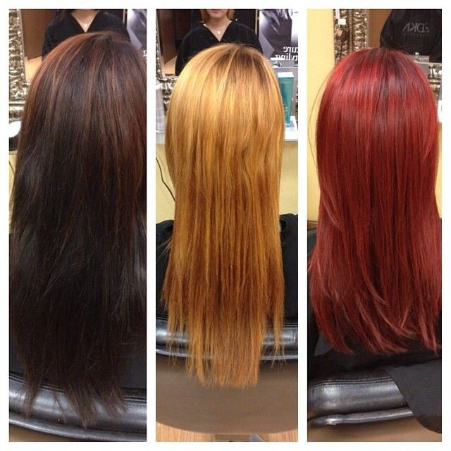 Hair By Rachel Fife Sara Fraraccio Salon Dark Brown To Bright Red Red Hair Vibrant Color Correction Hair Transformation Hair Color Correction Hair Red Hair