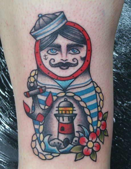 9767ecc69 Male Matryoshka (Nesting) Doll tattoo. I thought of Van! | Tattoo ...