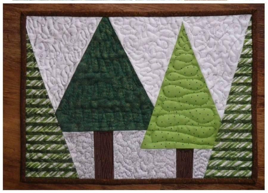 Free Sewing Pattern Christmas Placemat I Sew Free Placemats Patterns Christmas Placemats Christmas Tree Quilt