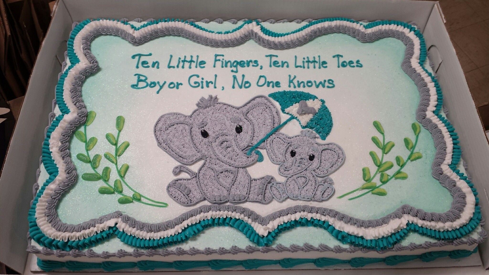 Elephant Themed Baby Shower For Boy Or Girl With Images Baby