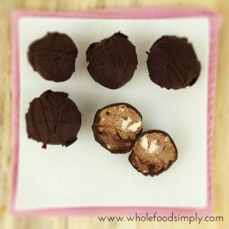 chocolate cheesecake bites