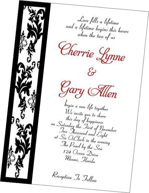 Handcrafted Damask Border wedding invitation set Wedding - invitation formats