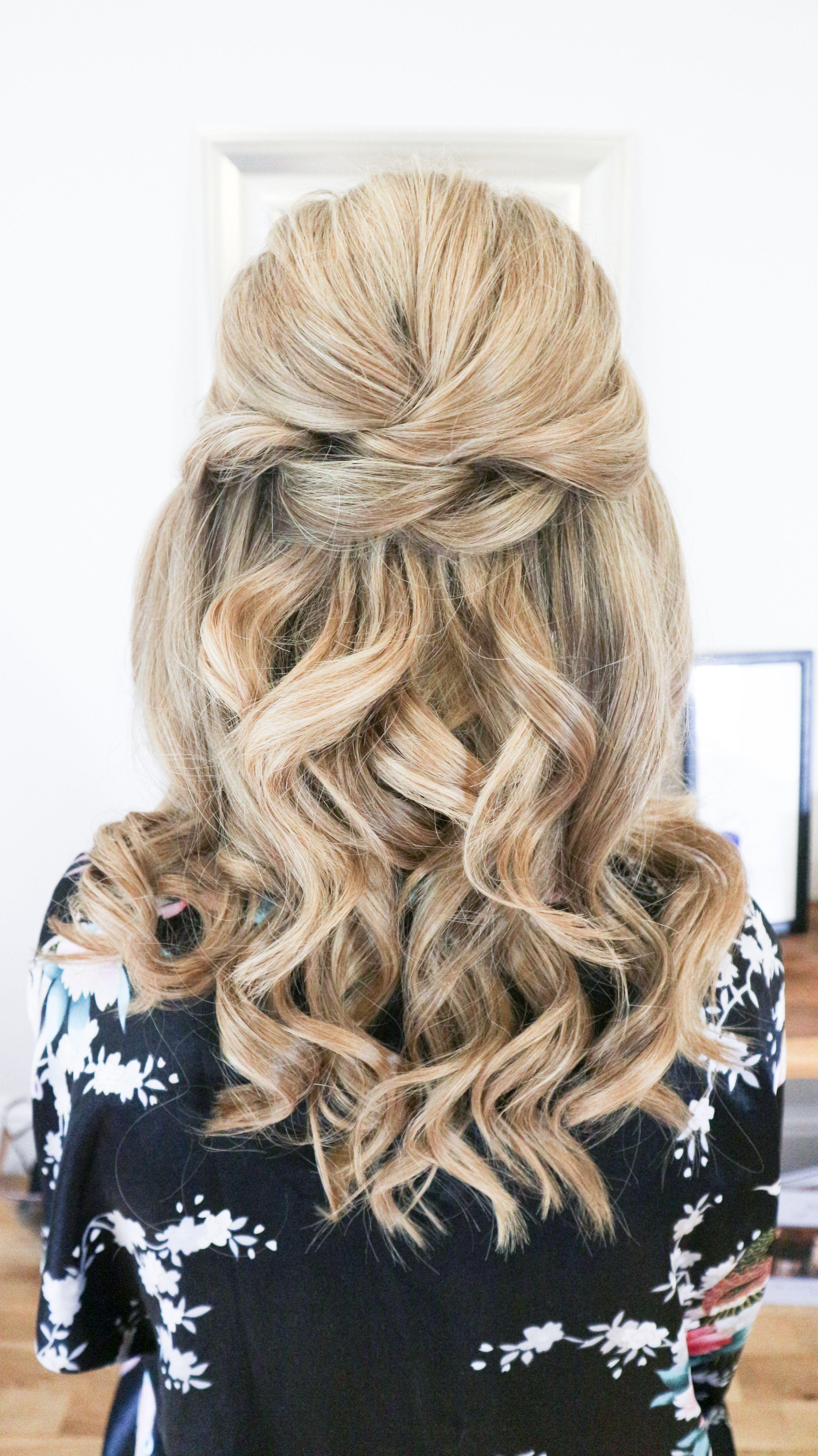 Half up bridal hairstyle BridalHairstyle   Wedding hair ...