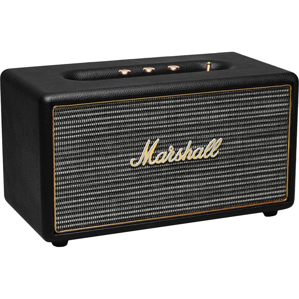 Marshall Stanmore Bluetooth Speaker System With Optical Connectivity Black Marshall Bluetooth Speaker Bluetooth Speakers Wireless Speakers Bluetooth