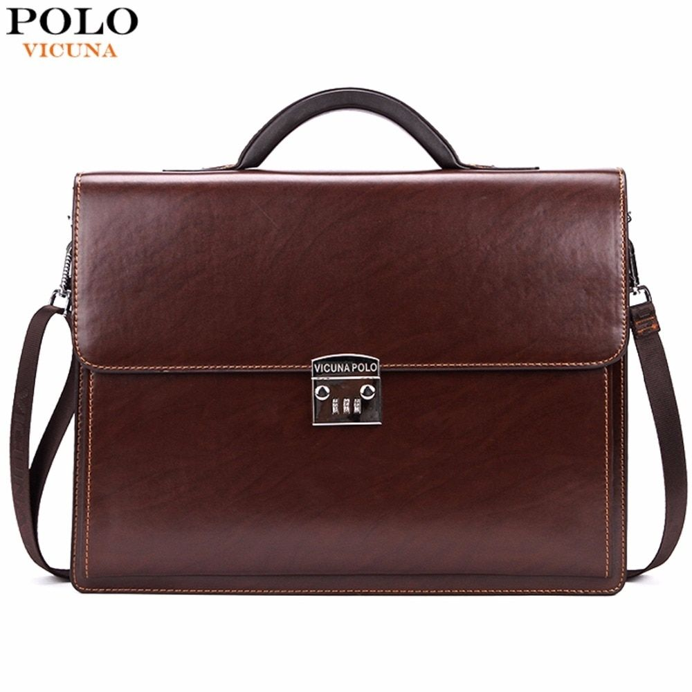 b3a332424 VICUNA POLO Luxury Business Mens Briefcase With Code-Lock High Quality OL  Business Man Bag Italy Brand pasta executiva masculino Price: 83.99 & FREE  ...