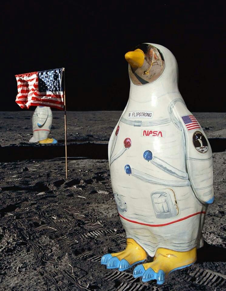 Penguins on the moon.