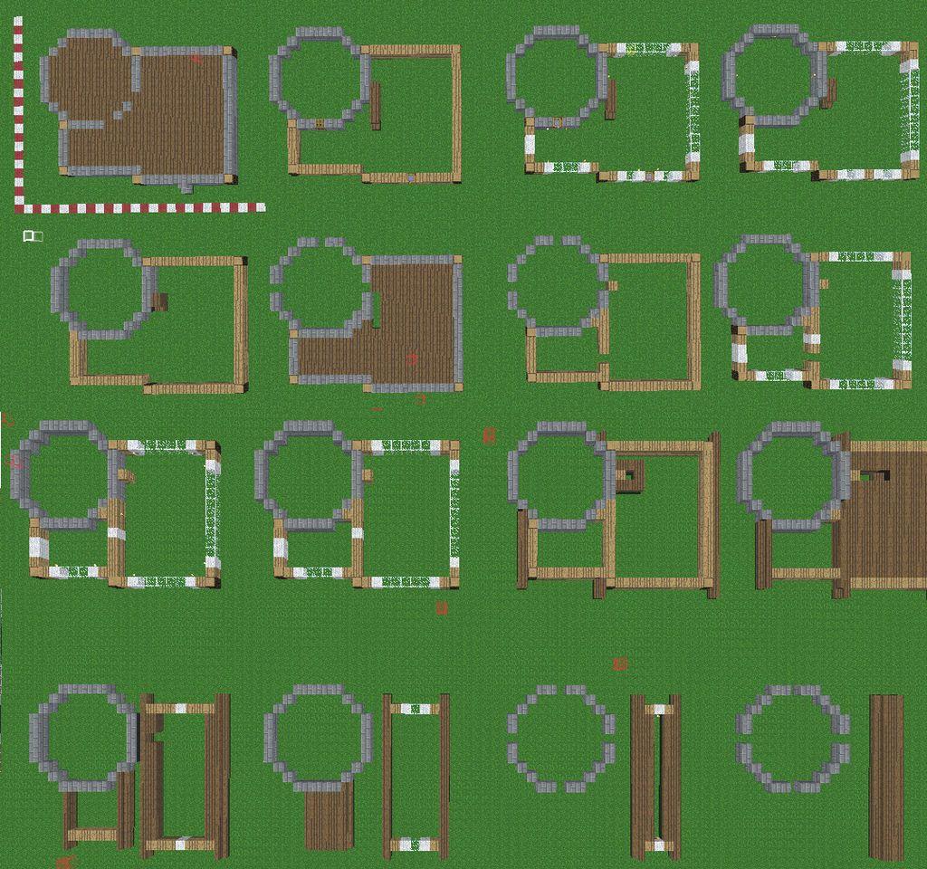 Mincraft House Blueprint by FAR TO MUCH on DeviantArt