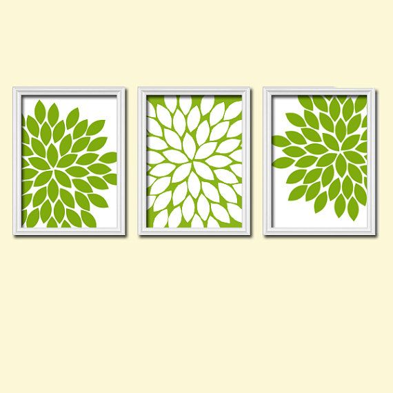 Lovely Kitchen Wall Art Canvas Artwork Apple Green White By TRMdesign, $29.00 Part 19
