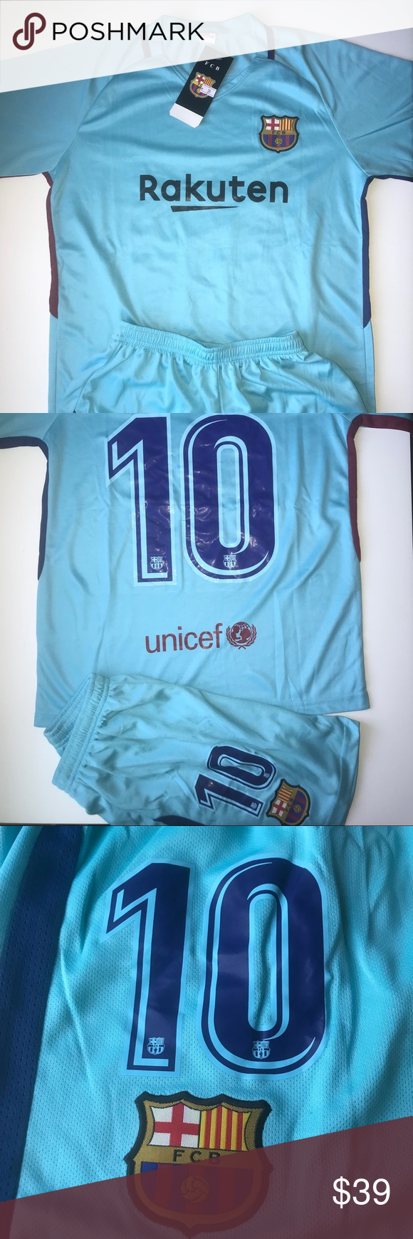 Messi barcelona kids size away soccer jersey messi player
