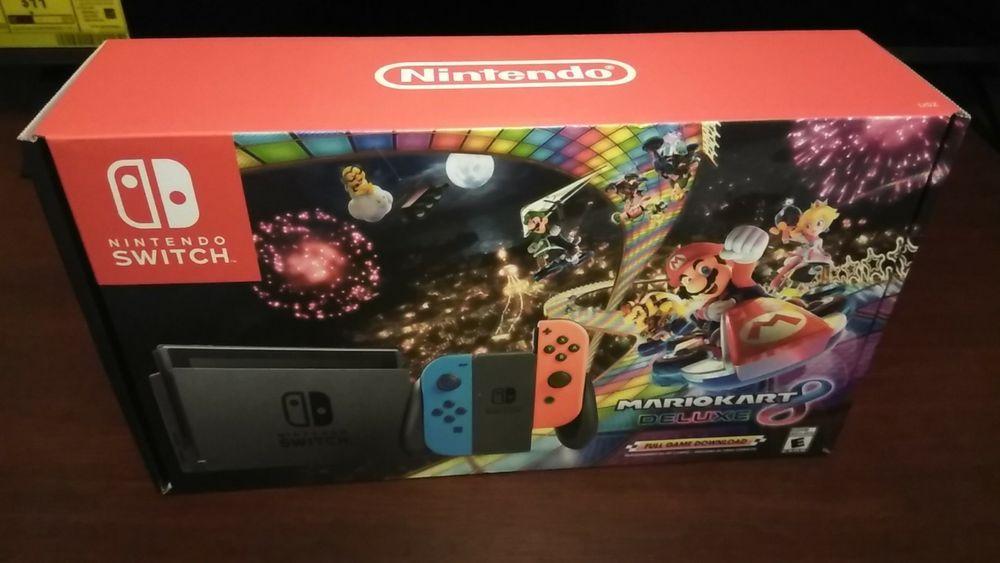 Nintendo Switch Mario Kart 8 Deluxe Bundle 32 Gigs Sold Out Everywhere Sealed Mario Kart 8 Mario Kart Nintendo Switch