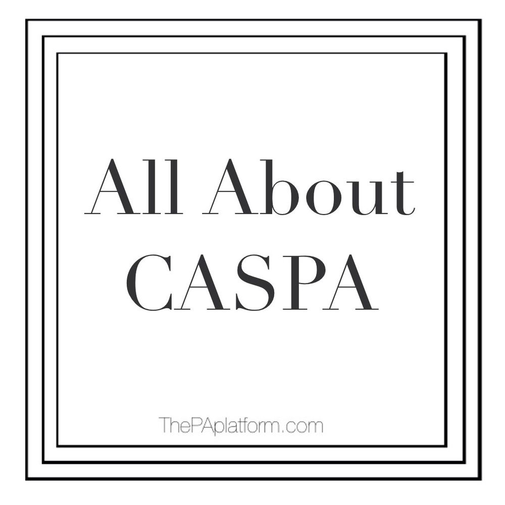 the word caspa gets thrown around a lot when the topic of applying to