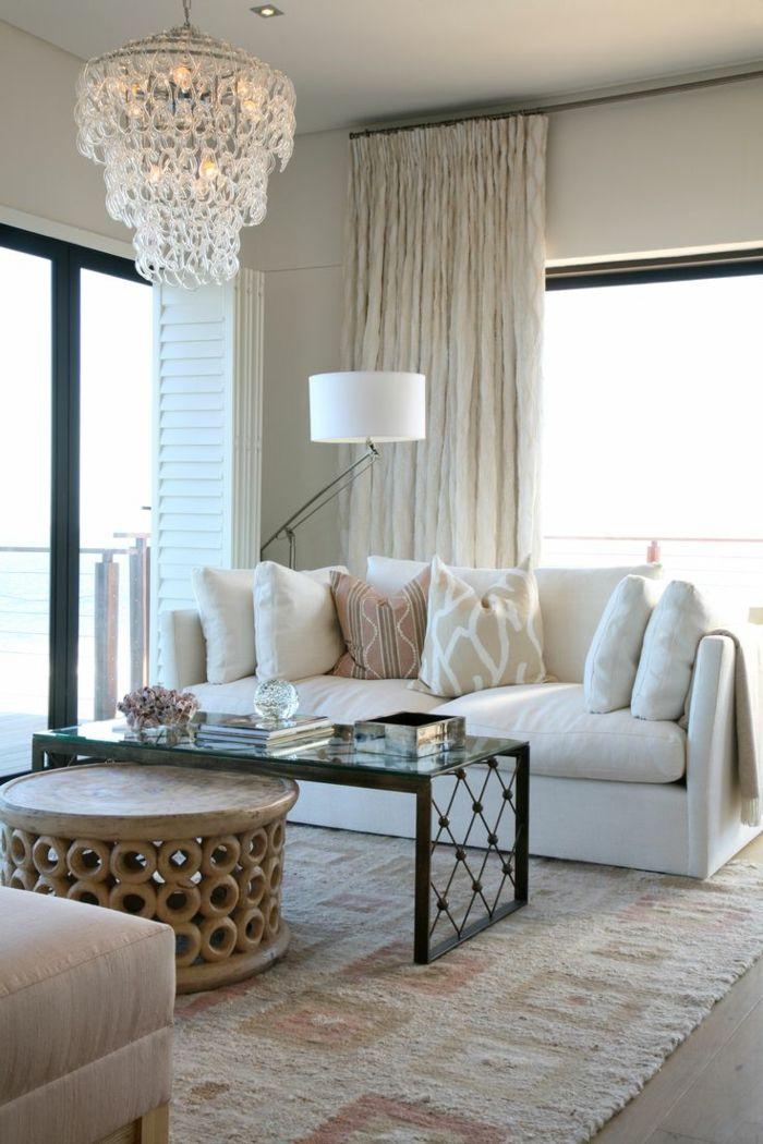 Perfekt Zimmereinrichtung Wohnzimmer Vintage Beistelltisch Teppich Kronleuchter