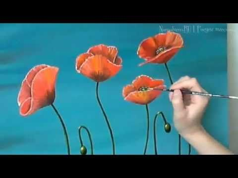 Maki Poppies Zhivopis Maslom Oil Painting Youtube In 2020 Blumen Malen Malerei Kunstmalerei