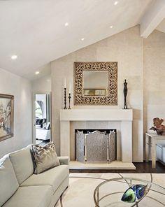 recessed lighting vaulted ceiling. Living Rooms, Recessed Light, Dark Wood Floors, Room Fireplace, Sloped Ceiling Lighting Vaulted I