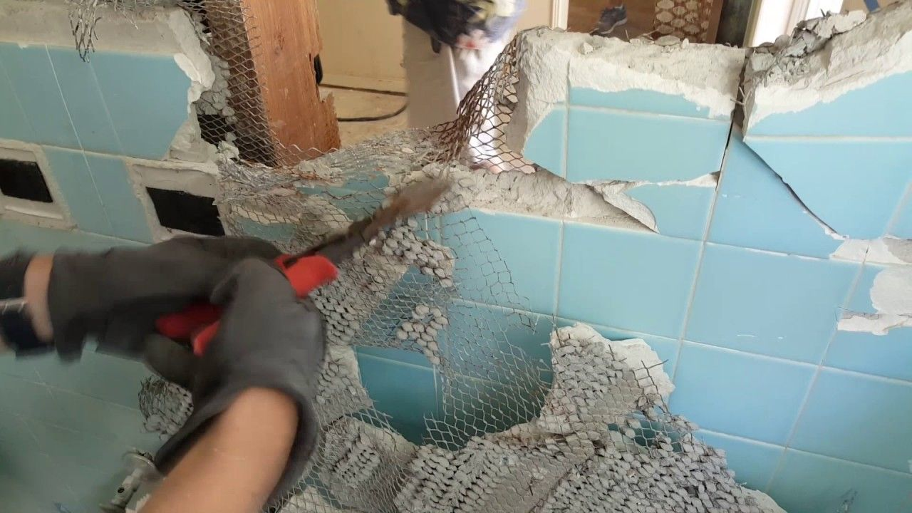 How To Remove Wire Mesh Wire Lath Plaster Walls During Kitchen
