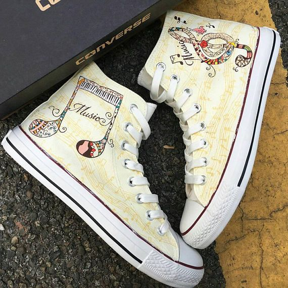 197066ecc645 ... Converse design!! A great Music Lover gift idea in any occasion.  Birthdays
