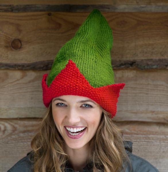 ff42f4cbc3d Elf hat (free knitting pattern)
